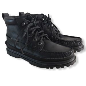 Polo Ralph Lauren Black Leather Boots